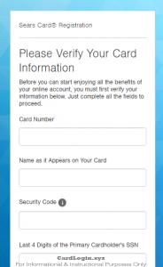 Sears Credit Card Login Bill Payment